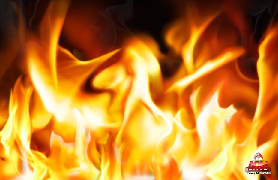 потолки с фотопечатью фото каталог - Огонь