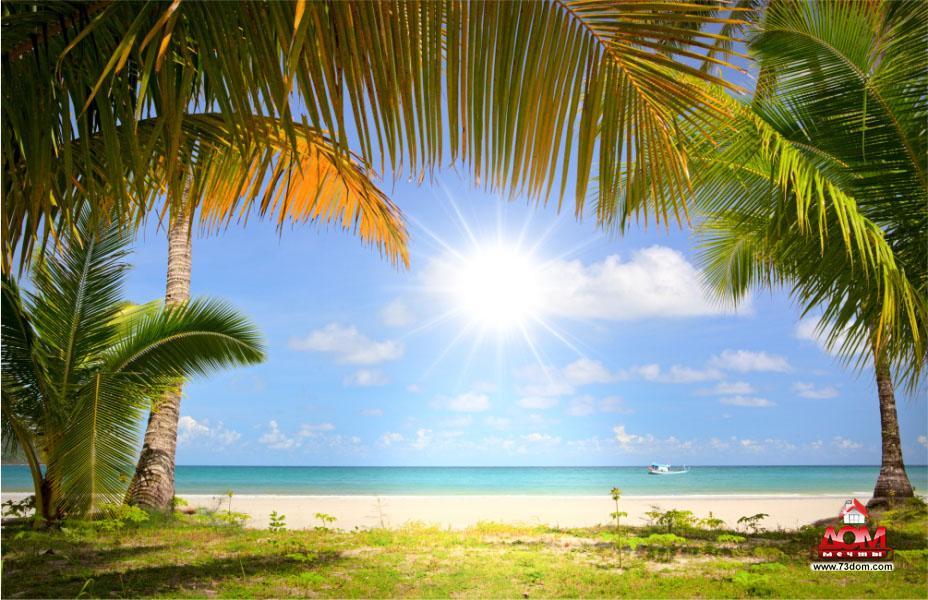натяжные потолки с фотопечатью каталог - Пляж
