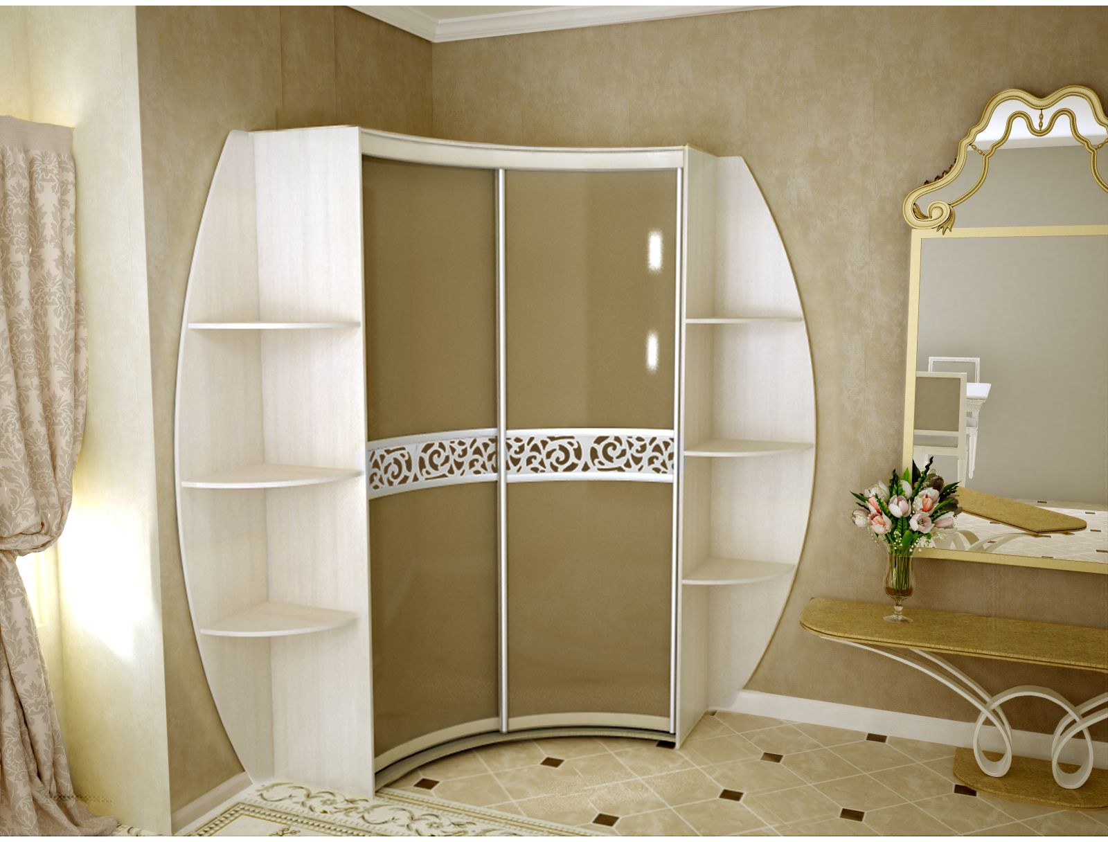 сосновые переводе идеи красивых угловых шкафов в спальню фото красота