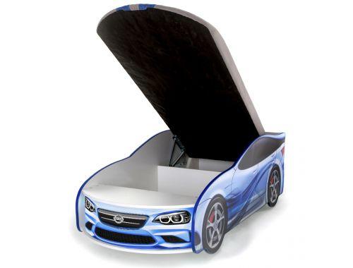 кровать машинка ФОРСАЖ синий